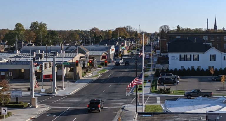 fall day in downtown Richmond Indiana