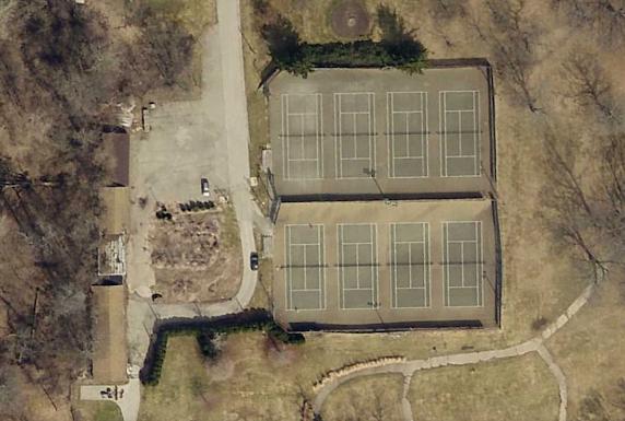 old tennis courts in glen miller park