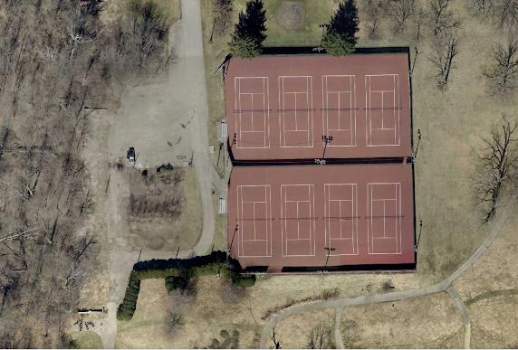 resurfaced tennis courts at glen miller