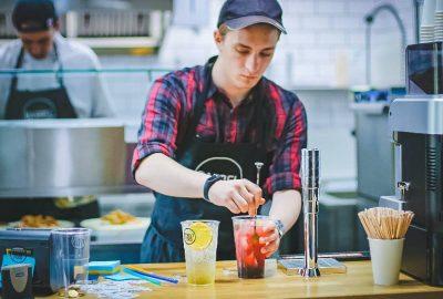 employee working in restaurant