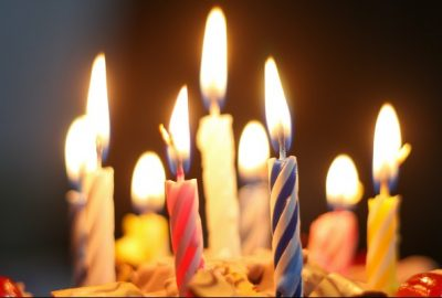 birthday candles representing how long business has been around